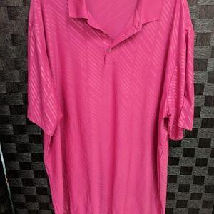 Men's Nike Dri-fit Pink Golf Polo Shirt XXL
